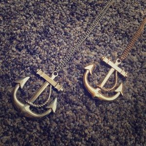 Gold Anchor Pendant